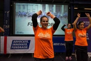 Volunteers - flashmob