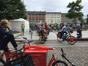 The #JourneyOfHope cross-border cycling tour started on 18 August at Israels Plads in Copenhagen.