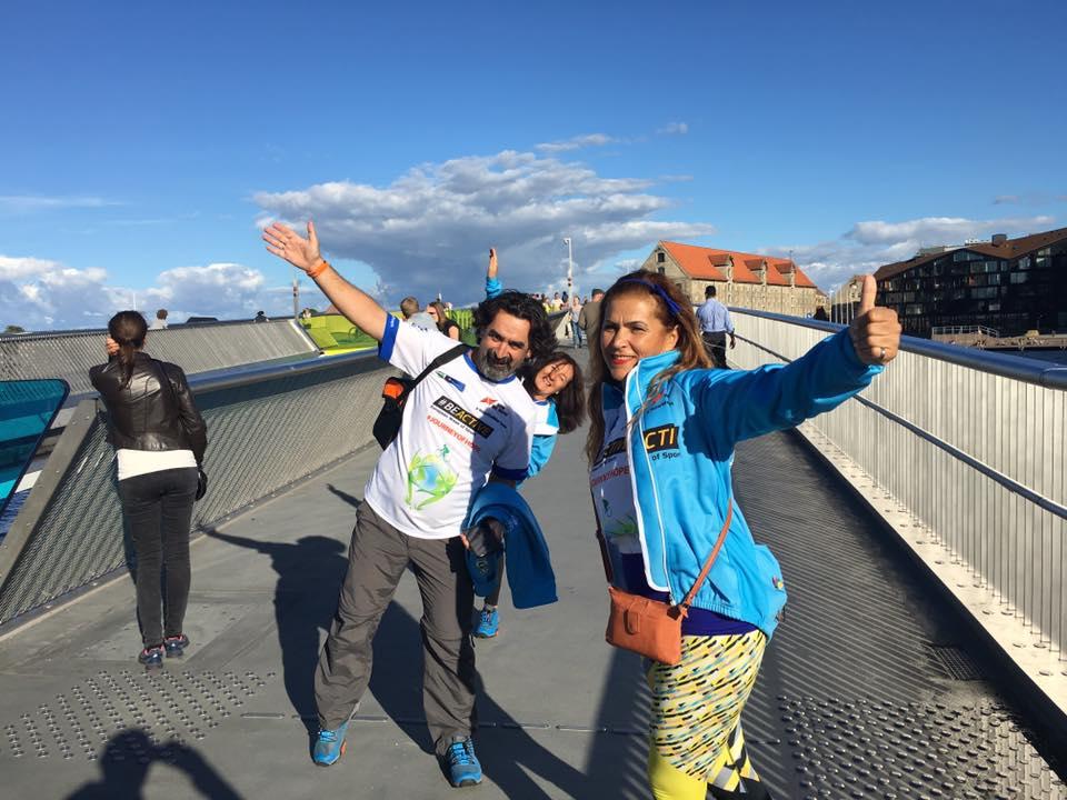 Journey of Hope team on Inderhavnsbroen in Copenhagen