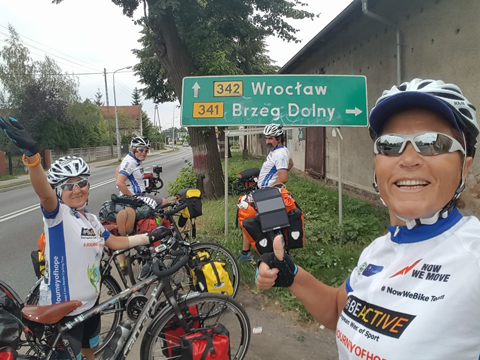 Journey of Hope_way to Wroclaw_Poland_cycling