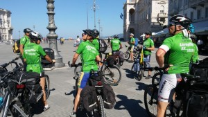 The Slovenian Journey of Hope team arrives in Trieste, Italy