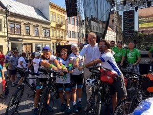 The Journey of Hope team with Tibor Navracsics and the Croatian team