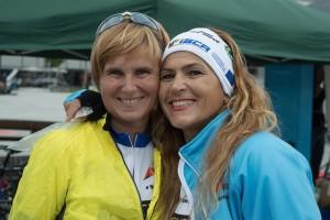 Saska with Journey of Hope teammate Aysel Atas