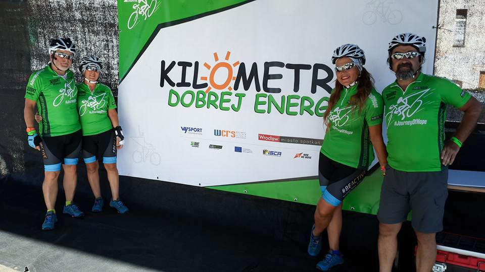 The Journey of Hope team at the Wroclaw Kilometres of Good Energy event